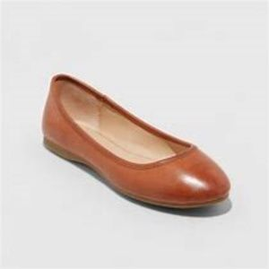 Universal Thread Everly Ballet Flat-Cognac Size 10